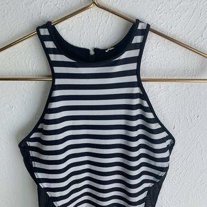 lululemon athletica Swim - Lululemon Salty Swim Front Racer Stripes Swimsuit